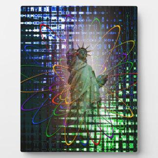 Statue of Liberty  Freiheitsstatue New York 4 Plaque