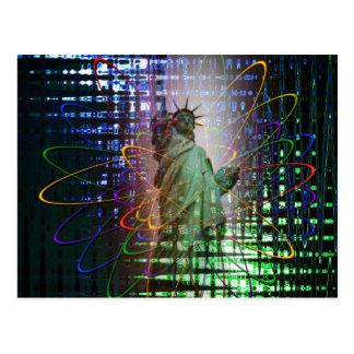 Statue of Liberty  Freiheitsstatue New York 4 Postcard