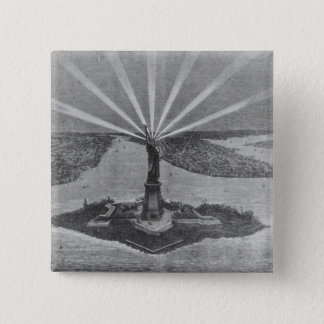Statue of Liberty, from 'The Graphic' Button