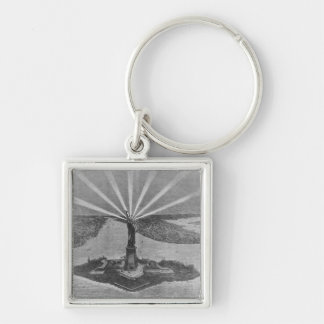 Statue of Liberty, from 'The Graphic' Silver-Colored Square Keychain