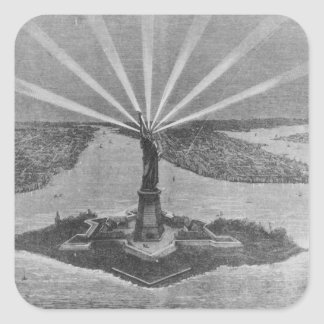 Statue of Liberty, from 'The Graphic' Square Sticker