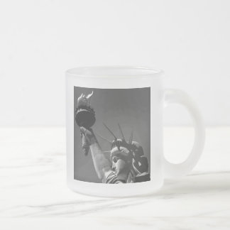 Statue of Liberty Frosted Glass Coffee Mug
