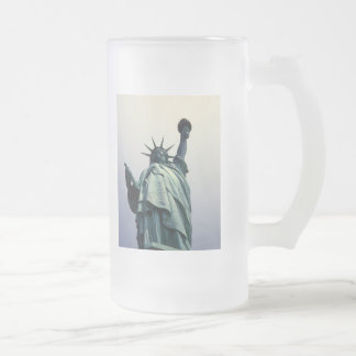 Statue of Liberty frosted mug
