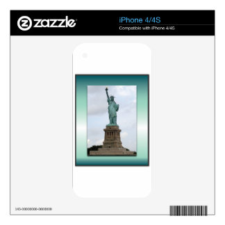 Statue Of Liberty Green Gradient Skin For iPhone 4