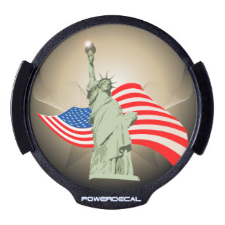 Statue of Liberty LED Window Decal