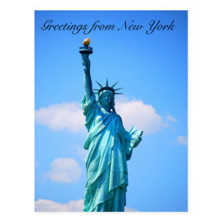 Statue of Liberty - Greetings from New York Postcard