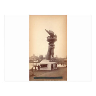 Statue of Liberty hand and torch large 1886 Postcard