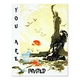 STATUE OF LIBERTY HARBOR INVITATION EZ2 CUSTOMIZE