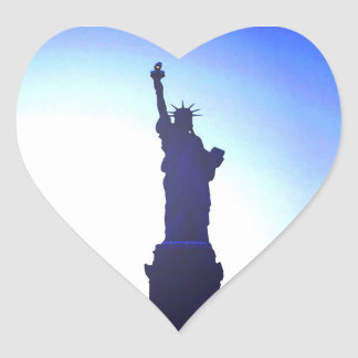 Statue of Liberty Heart Sticker