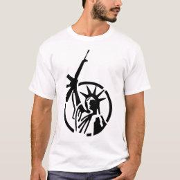 Statue of Liberty holding an AR-15 up high! T-Shirt