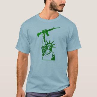Statue of Liberty Holding Gun - 2nd Amendment T-Shirt