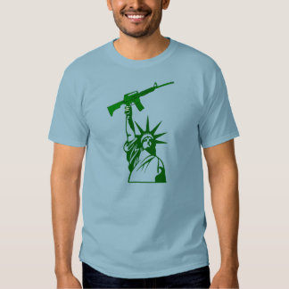 Statue of Liberty Holding Gun - 2nd Amendment Tee Shirt
