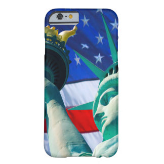 Statue Of Liberty Holding Torch US Flag Background Barely There iPhone 6 Case