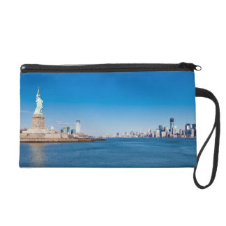 Statue of Liberty, Hudson River and Manhattan Wristlet Purse