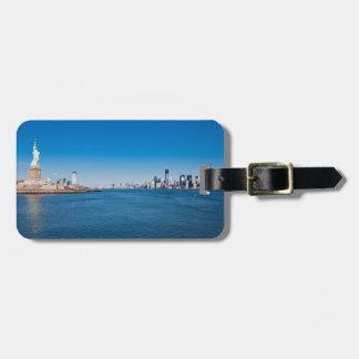 Statue of Liberty, Hudson River and Manhattan Bag Tag