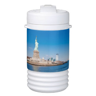Statue of Liberty, Hudson River and Manhattan Cooler