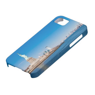 Statue of Liberty, Hudson River and Manhattan iPhone SE/5/5s Case