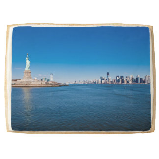 Statue of Liberty, Hudson River and Manhattan Jumbo Shortbread Cookie