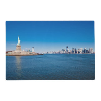 Statue of Liberty, Hudson River and Manhattan Laminated Placemat