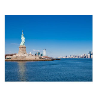Statue of Liberty, Hudson River and Manhattan Postcard