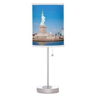 Statue of Liberty, Hudson River and Manhattan Table Lamp