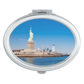 Statue of Liberty, Hudson River and Manhattan Vanity Mirror