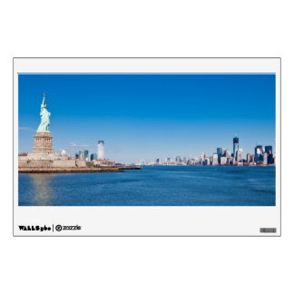 Statue of Liberty, Hudson River and Manhattan Wall Sticker
