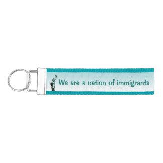 Statue of Liberty Immigrants Wrist Keychain