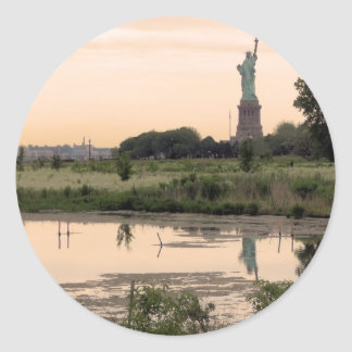 Statue Of Liberty In Morning Sticker