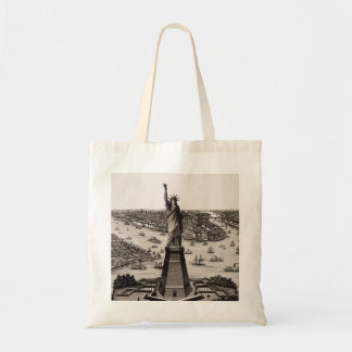 Statue Of Liberty In New York Harbor Budget Tote Bag