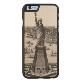Statue Of Liberty In New York Harbor Carved Maple iPhone 6 Slim Case