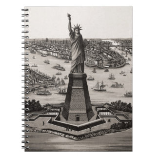 Statue Of Liberty In New York Harbor Spiral Notebook