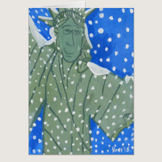 Statue of Liberty in the Snow by Joel Anderson Card
