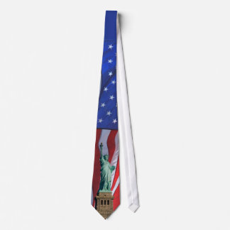Statue Of Liberty Independence Day Celebration Tie