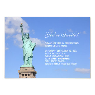 Statue of Liberty Invitation