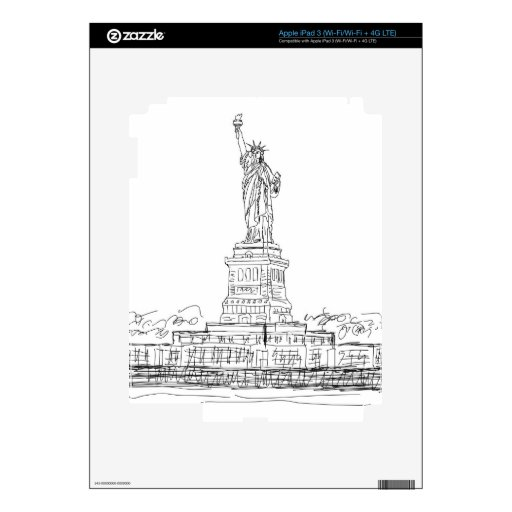 Statue of Liberty iPad 3 Decals