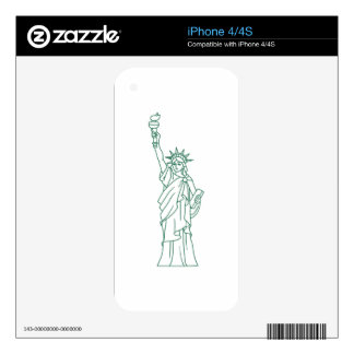 STATUE OF LIBERTY iPhone 4S SKIN
