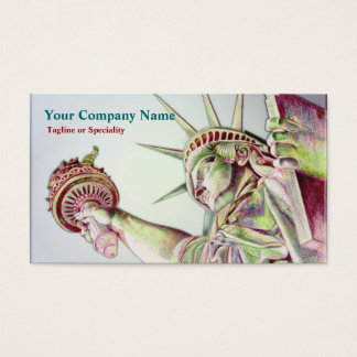 Statue of Liberty Justice Business Card
