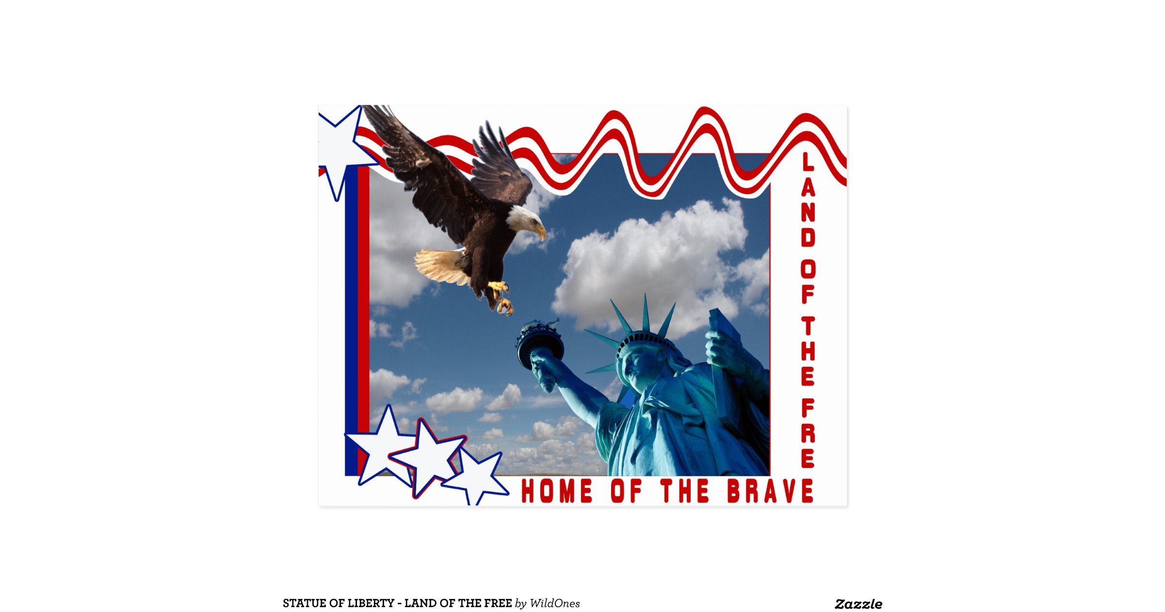 statue of liberty land of the free postcard r5e2d2ef750f84f5280cc8a16eb8db36e vgbaq 8byvr 1200. Black Bedroom Furniture Sets. Home Design Ideas