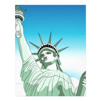 Statue of Liberty Landmark Letterhead