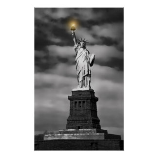 STATUE of LIBERTY LIGHTS THE WAY Poster