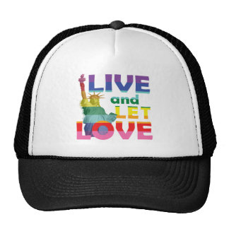 Statue of Liberty Live Let Love Trucker Hat