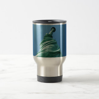 Statue of Liberty looking upwards Travel Mug