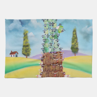 Statue of Liberty made of sheep Gordon Bruce art Hand Towels