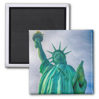 Statue of Liberty 2 Inch Square Magnet