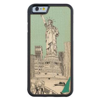 Statue of Liberty Maple iPhone 6 Bumper Case Carved® Maple iPhone 6 Bumper Case