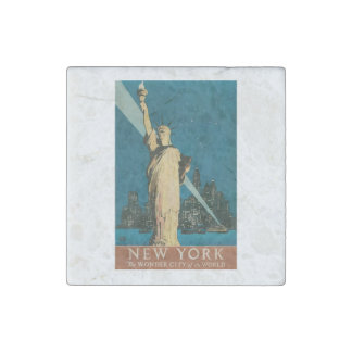 Statue of Liberty Marble Stone Magnet
