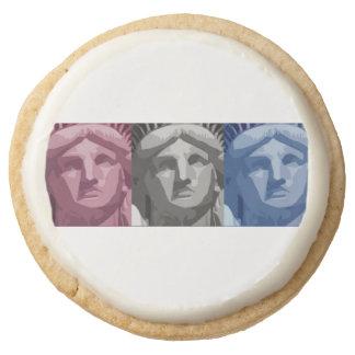 Statue of Liberty Round Premium Shortbread Cookie