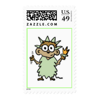 Statue of Liberty Monkey Stamps