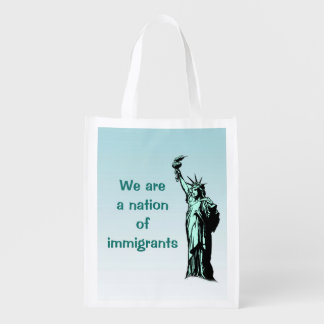 Statue of Liberty Nation of Immigrants Grocery Bag
